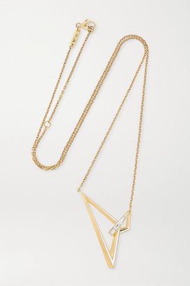 Stephen Webster Vertigo Obtuse 18-karat Gold, Enamel And Diamond Necklace - one size