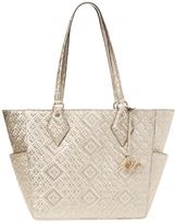 Diane von Furstenberg Voyage BFF Metallic Leather Basket Weave Tote