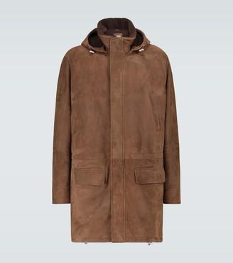 Brunello Cucinelli Suede parka jacket