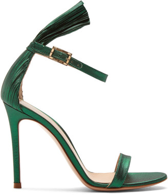 Gianvito Rossi Green Belvedere Heels