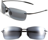 Maui Jim Women's 'Lighthouse - Polarizedplus2' 65Mm Rimless Sunglasses - Gloss Black