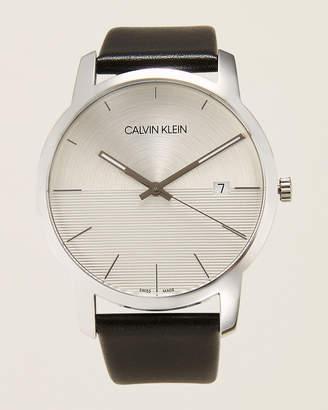Calvin Klein K2G2G1CD Silver-Tone & Black City Watch