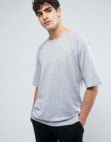 Dr. Denim Thorn T-Shirt Oversized Light Gray Mix