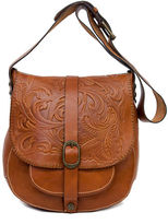 Patricia Nash Tooled Barcellona Leather Satchel