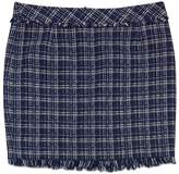 Trina Turk Blue & White Tweed Mini Skirt