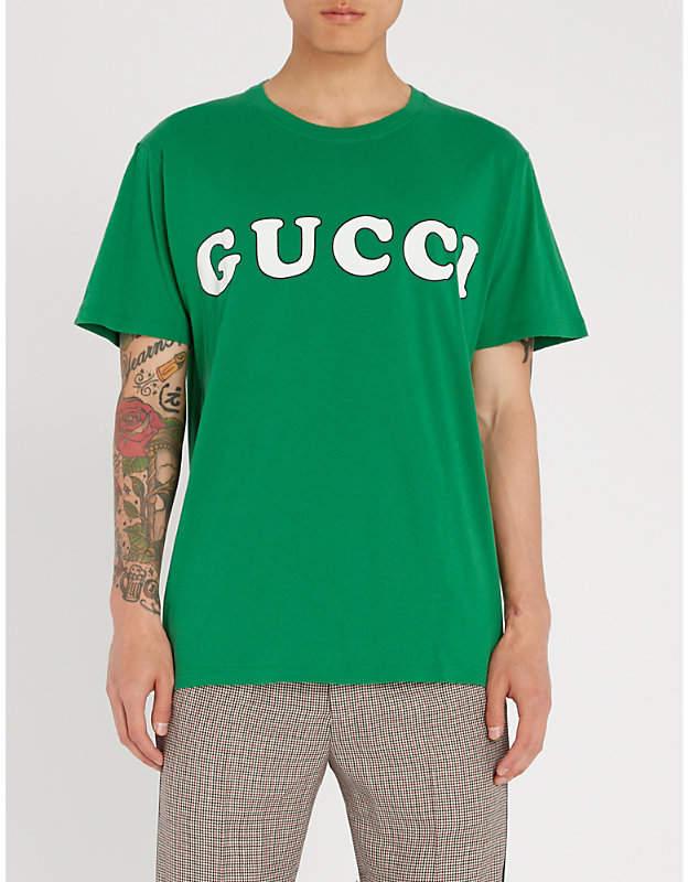 Gucci Baby logo-print cotton-jersey T-shirt