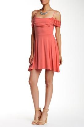 Free Press Off-Shoulder Fit n' Flare Dress