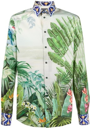 Dolce & Gabbana Tropical Print Shirt