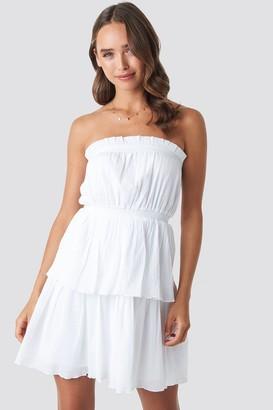 Celine & Talisa X NA-KD Strapless Mini Dress White