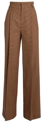 Chloé Flared Check Trousers
