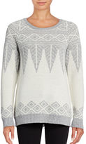 G.H. Bass & Co. Patterned Crew Neck Sweater