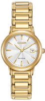 Citizen Eco-Drive Silhouette Sport Womens Gold-Tone Stainless Steel Bracelet Watch EW2372-51A