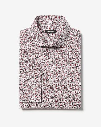 Express Slim Floral Cotton Dress Shirt