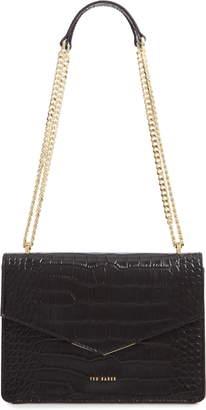 Ted Baker Jaydaa Croc Embossed Leather Crossbody Bag