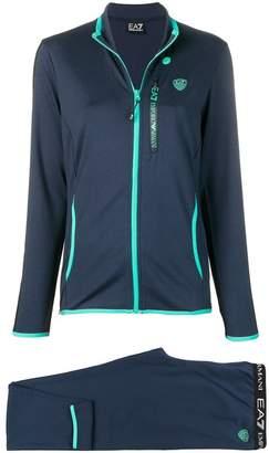Emporio Armani Ea7 contrast piping track suit
