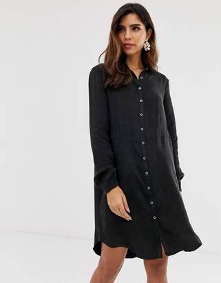 Vila denim shirt dress-Black
