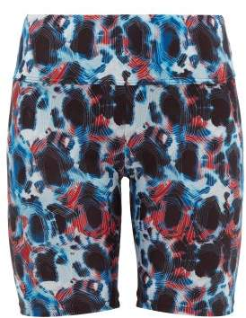 Thorsun Blake Tie Dye Biker Shorts - Womens - Blue Multi