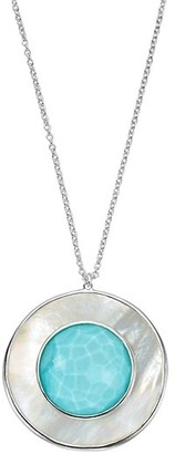 Ippolita Ondine Large Sterling Silver, Turquoise Doublet & Mother-Of-Pearl Circle Pendant Necklace