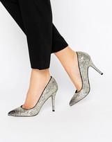 Little Mistress Astaire Ombre Glitter Heeled Court Shoe