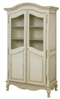 The Well Appointed House Grand Armoire with Wire Mesh Doors in Versailles Linen