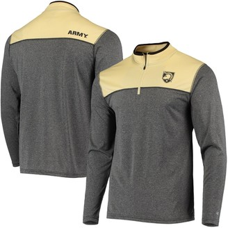 Colosseum Men's Black Army Black Knights Rangers Quarter-Zip Pullover Wind Shirt