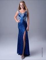 Nina Canacci - 8043 Dress in Royal