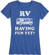 Roger Vivier Instant Message Women's Women's Tee Shirts HEATHER - Heather Royal Blue 'RV Having Fun Yet' Relaxed-Fit Tee - Women