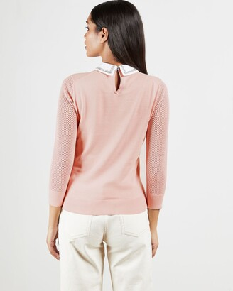 Ted Baker Embellished Collar Knitted Sweater