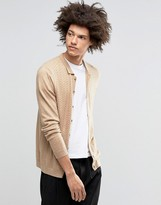 Asos Turtleneck Cardigan in Merino Wool Mix