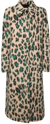 MM6 MAISON MARGIELA Leo Print Brushed Wool Blend Coat