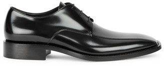 Balenciaga Black Glossed Leather Derby Shoes