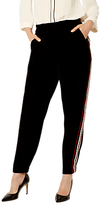 Karen Millen Velvet Sporty Trousers, Black