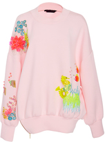 Manish Arora Life Aquatic Hand Embroidered Neoprene Top