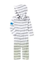 Burt's Bees Baby Organic Slub Reverse Stripe Dip Dye Hooded Coverall (Baby Boys)