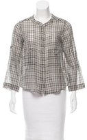 IRO Plaid Button-Up Top