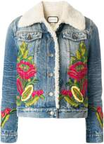 Gucci shearling lined denim jacket
