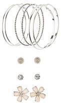 Charlotte Russe Hoop & Floral Stud Earrings Set