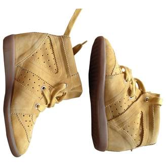 Isabel Marant Bobby Yellow Suede Trainers
