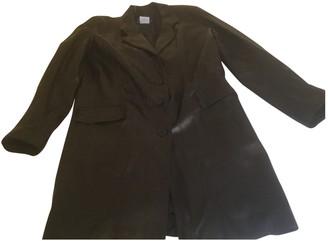 agnès b. Black Leather Coat for Women