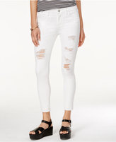 Tinseltown Juniors' Ripped Cropped Skinny Jeans