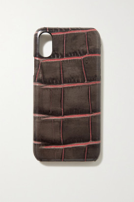 Factory The Case Croc-effect Leather Iphone X And Xs Case - Taupe