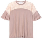 Valentino Wool And Lace Top