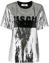 MSGM sequin embellished T-shirt