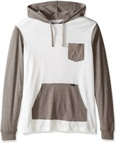 RVCA Men's Set up Hooded Shirt, Antique/White, M