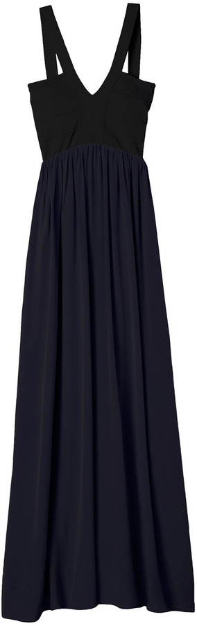 Rebecca Taylor Stretch Knit Maxi Dress