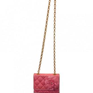 Chanel Pink Wicker Handbags