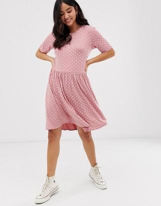 New Look smock dress in pink pattern