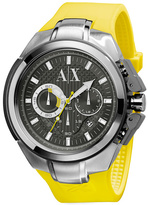 Armani Exchange Yellow Rubber Sport Watch