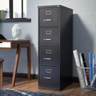 Brayden Studio Kane 4-Drawer Vertical Filing Cabinet Color: Black