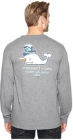 Vineyard Vines Long Sleeve Snowman Whale Pocket T-Shirt
